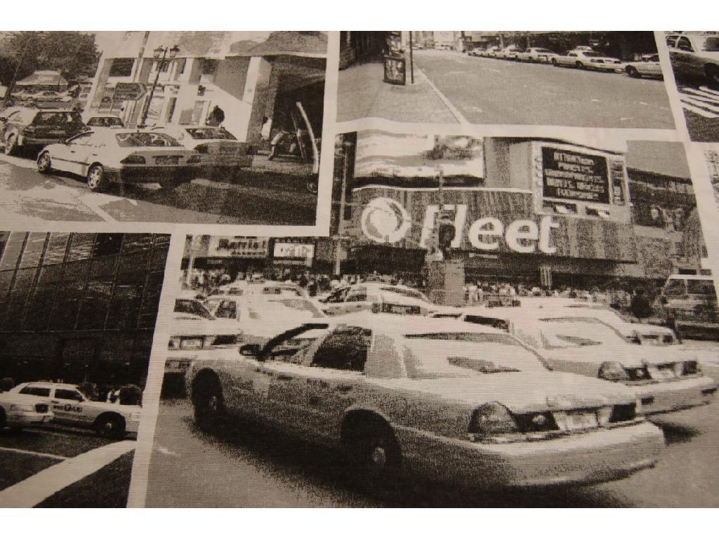 tessuto stampato disegno taxi