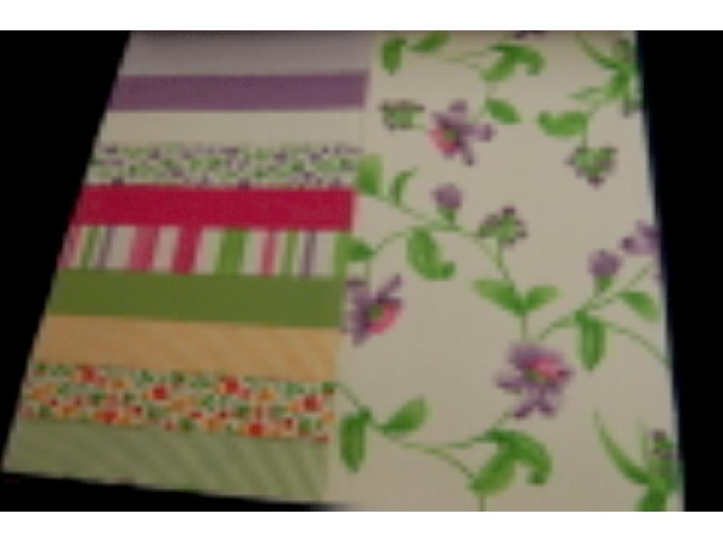 Cretonne fiore e riga coordinati con tinta unita
